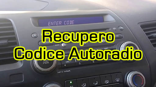 recupero codice autoradio
